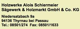 Alois Schiermeier Sägewerk